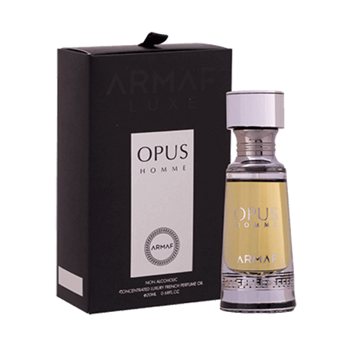 Armaf Opus Homme-Concentrated Luxury French Perfume Oil-0.68 Fl Oz For Men