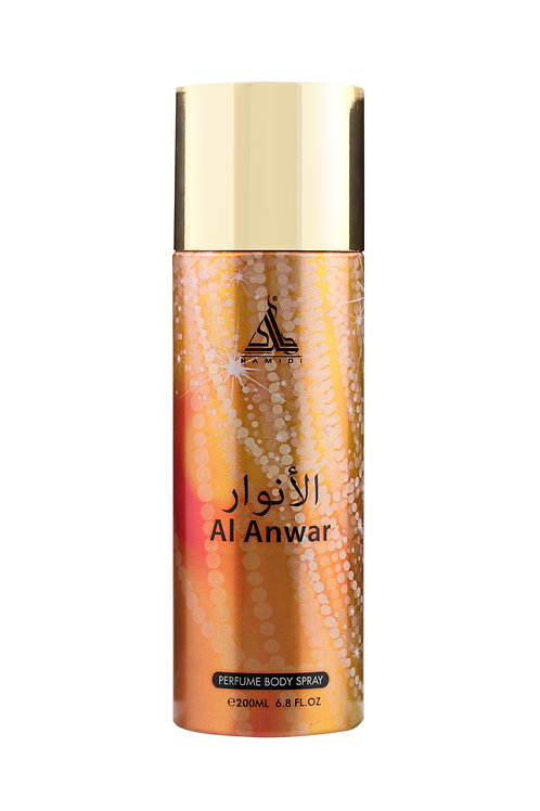 HAMIDI AL ANWAR PERFUME BODY SPRAY 200ML ALCOHOL FREE