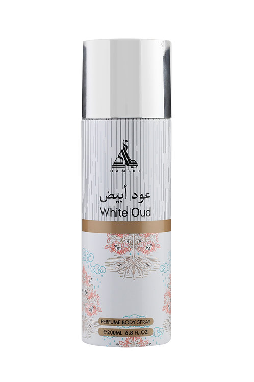 HAMIDI WHITE OUD PERFUME BODY SPRAY 200ML ALCOHOL FREE