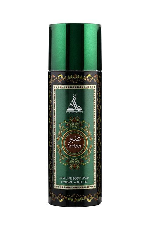 HAMIDI AMBER PERFUME BODY SPRAY 200ML ALCOHOL FREE