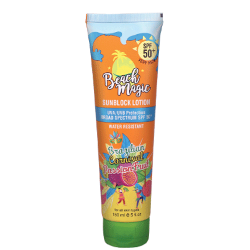 SUNSCREEN LOTION SPF 50 BEACH MAGIC BRAZILIAN CARNIVAL PASSION FRUIT