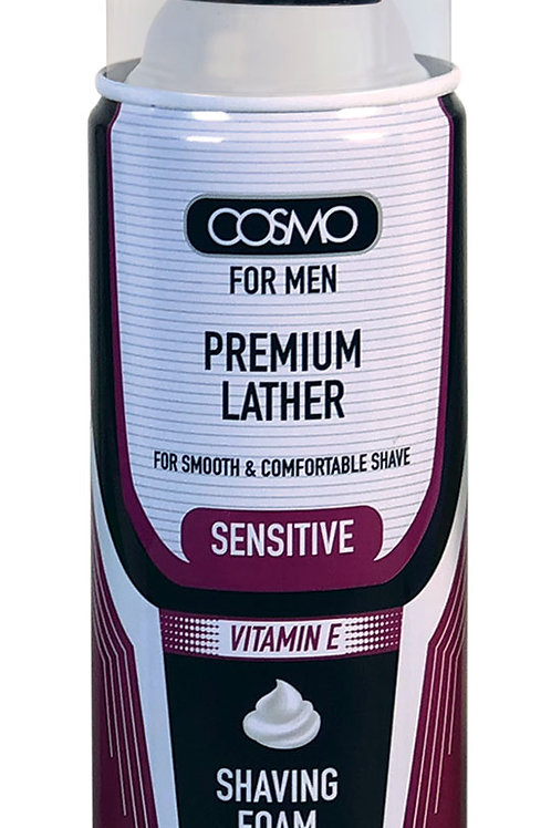 Cosmo Shaving Foam Sensitive Vitamin E 400ml/13.5 fl.oz.
