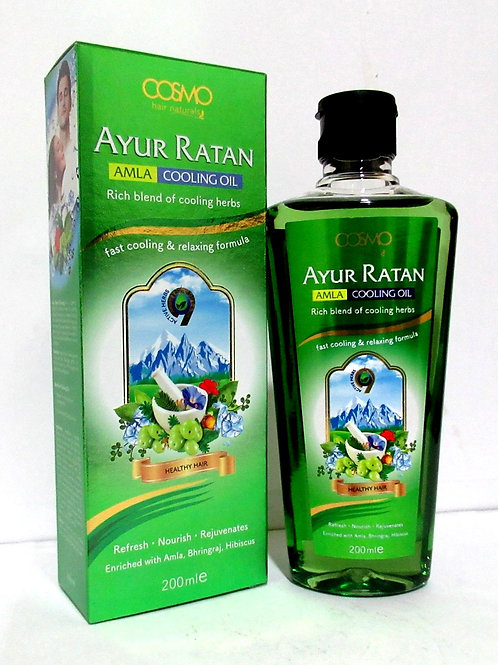 Ayur Ratan Herbal Cooling Oil - Amla Oil 200ml/6.8 Fl.oz.