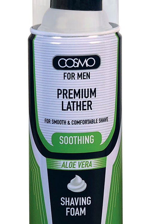Cosmo Shaving Foam Soothing Aloe Vera 400ml/13.5 fl.oz.