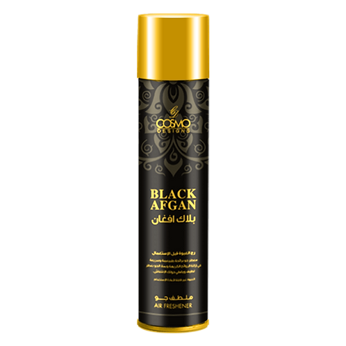 COSMO DESIGN AIR FRESHENER BLACK AFGAN 300 ML/10.1 OZ SPRAY