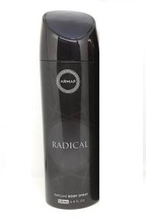 RADICAL BLACK BY ARMAF ALCOHOL FREE PERFUME BODY SPRAY 200ML
