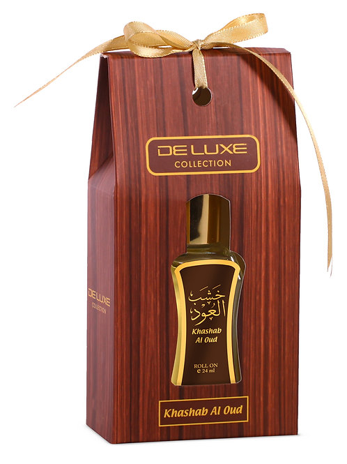 HAMIDI DELUXE ROLL ON PERFUME ATTAR OIL KHASHAB AL OUD 24 ML