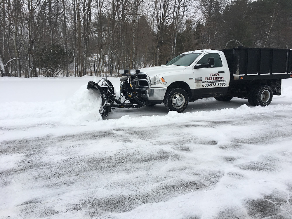Our newest truck with V-Plow