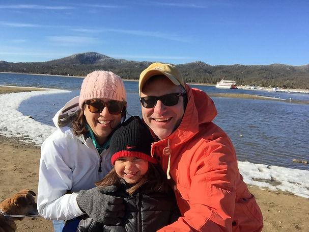 Family at Big Bear Lake