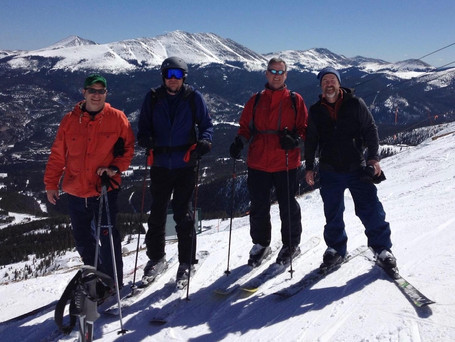 Carl Skiing with Friends