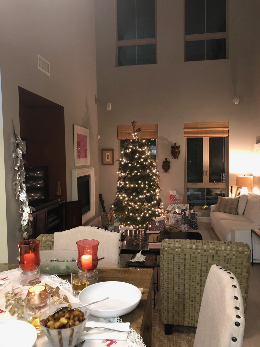 Our Christmas Eve Living Room