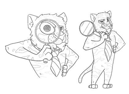 Tiger Maskottchen / Erste Skizzen