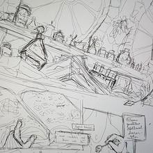 Skizze aus einer Comicseite