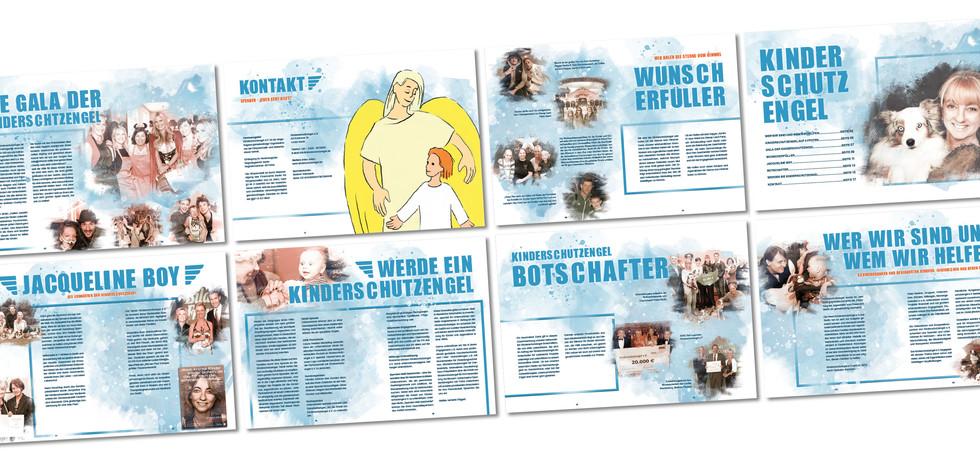Kinderschutzengel e.v. mehrseitige Broschüre