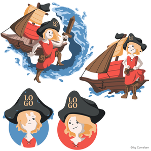 Piratin Maskottchen