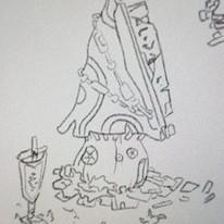 Skizze von Wohnpilzen
