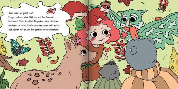 Das wilde Mädchen - Comicseite aus Kinderbuch