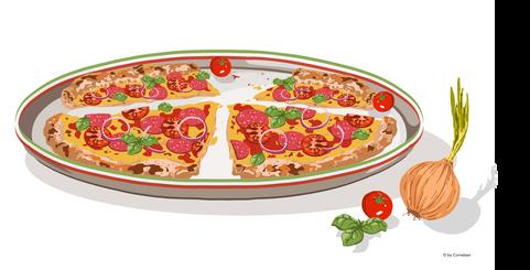 Italienische Steinofenpizza