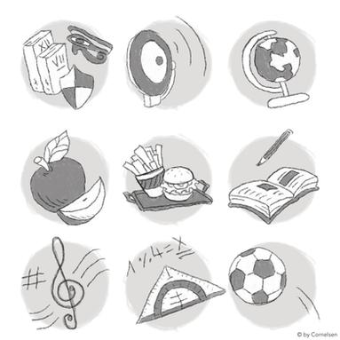 Icons zum Thema Schule