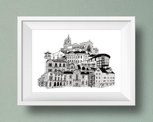 Buildings of Chelmsford Print