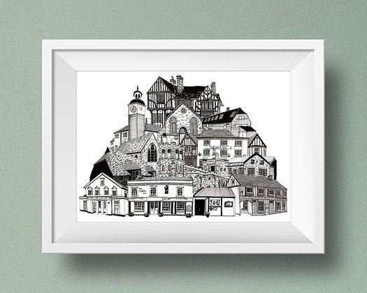 Buildings of Coggeshall Print