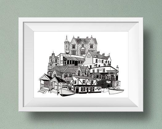 Buildings of Leigh-on-Sea Print