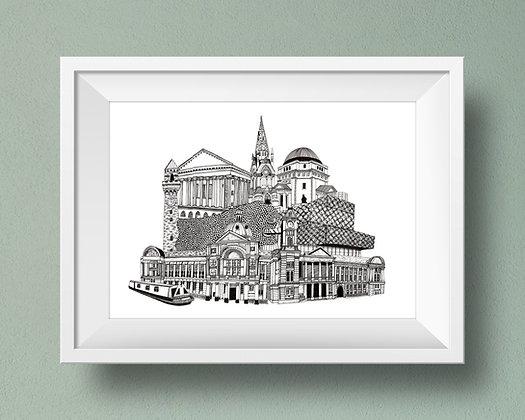 Buildings of Birmingham Print