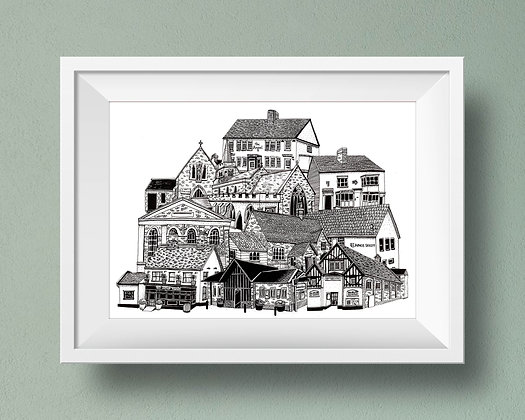 Buildings of Kelvedon Print