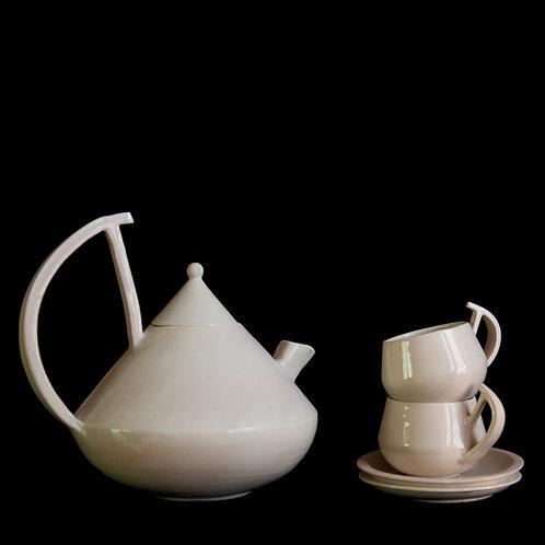 bauhaus white tea set