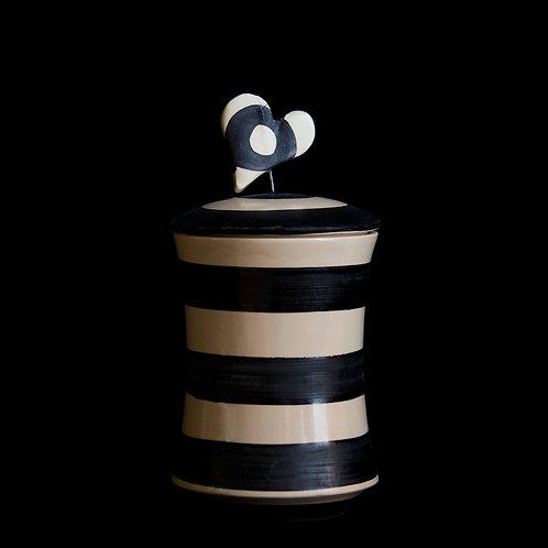 b&w cylindrical box