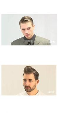 férfi hajvágás videók