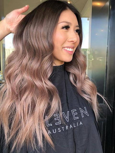 Gorgeous blush beige blonde 🍓💛_Hair by