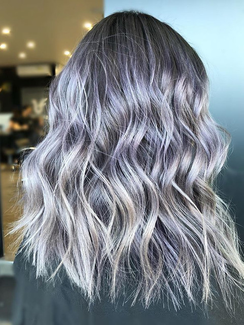 Metallic lavender 🖤☠️_Hair by _chris.st