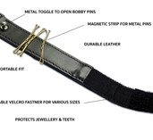 Leather Magnetic bobby pin wristband.jpg