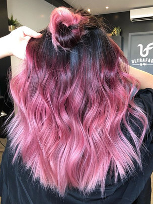 Ombre Pink coloured with _fanola 💕💕💕_