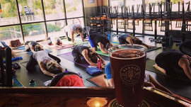 Yoga & Beer in full affect!! _corepowery