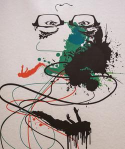 Screen print Self-Portrait 05 Detail