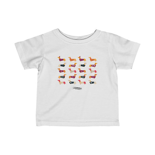baby Infant Fine Jersey Tee - halloween puppies