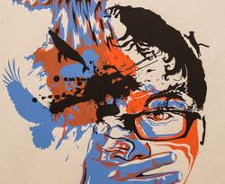 Screen print Self-Portrait 03 Detail