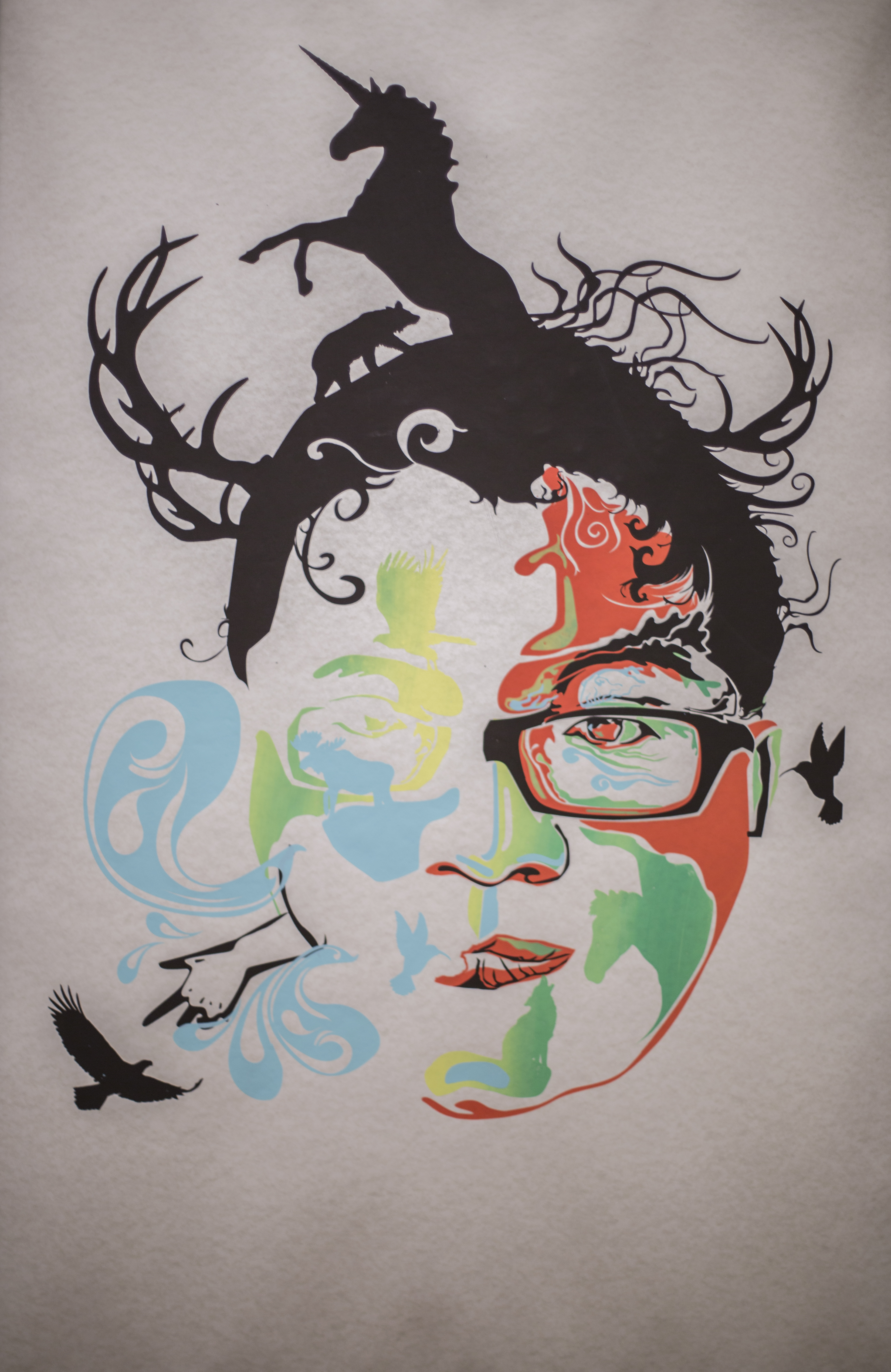 Screen print Self-Portrait 06