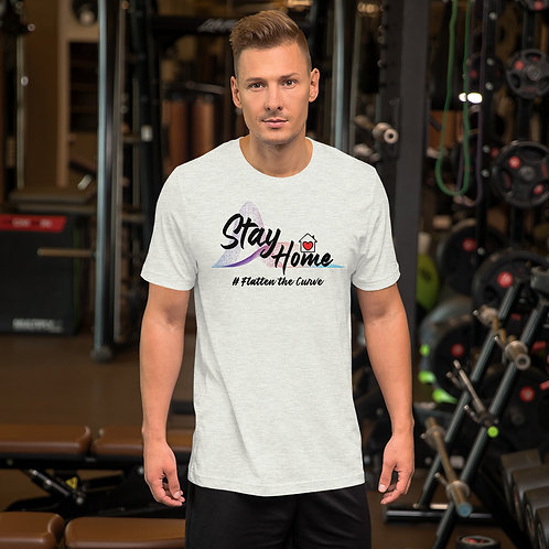 Stay Home # Flatten the Curve Short-Sleeve Unisex T-Shirt