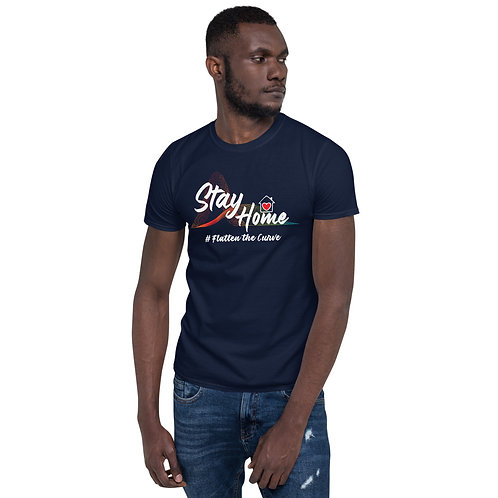 Stay Home # Flatten the Curve #2 Short-Sleeve Unisex T-Shirt