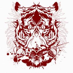 Tee_ tiger wild 00