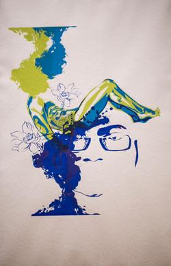 Screen print Self-Portrait 04