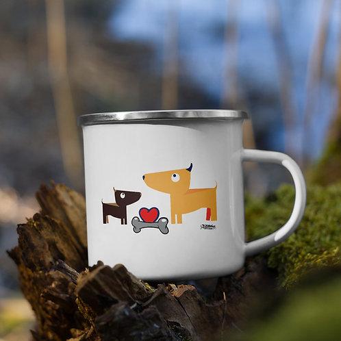 Woof & Woof Enamel Mug