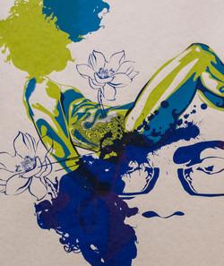Screen print Self-Portrait 04 Detail