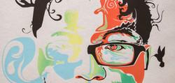 Screen print Self-Portrait 06 Detail