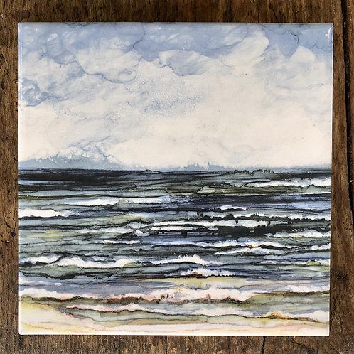 Ocean Breeze Ceramic Tile - Indoor and Outdoor Use