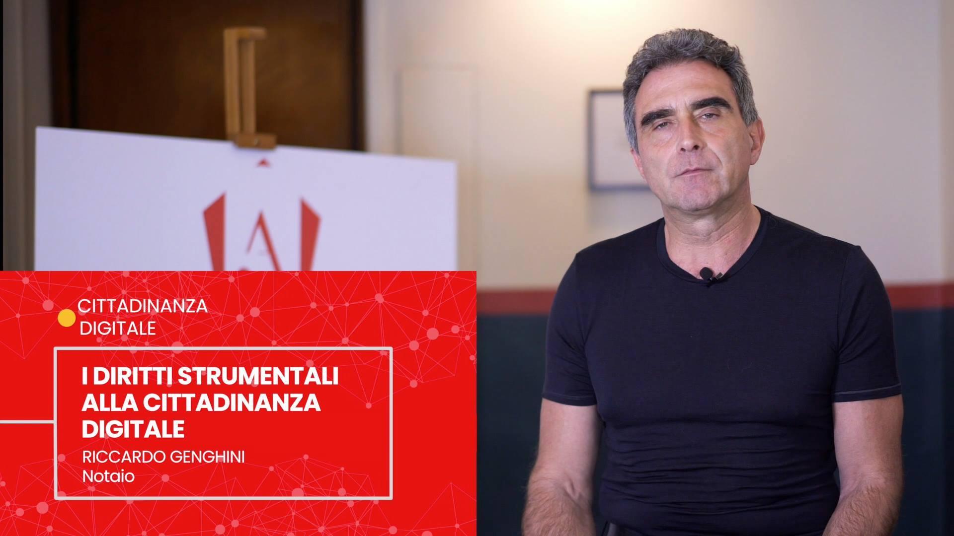 RICCARDO GENGHINI - I DIRITTI STRUMENTALI ALLA CITTADINANZA DIGITALE