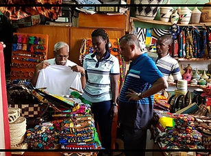 Souvenir shopping during Kigali City Sightseeing